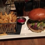 Wonderful burger and fries!