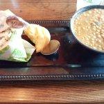 1/2 Chicken Waldorf Sandwich and 1/2 Lentil Soup