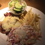 chicken thin chips ans salad