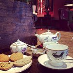 Tea with complimentary freshly made biscuits