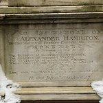 Hamilton's grave at Trinity Church