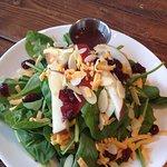 Spinach Apple Cheddar Salad