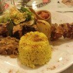 Rhum arrangé passion,brochette de poulet riz créole