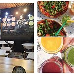 beautiful interior, healthy pizza  or juice & smoothie