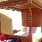 Antique Pine Four Poster Bed in Crystal Bungalow.....