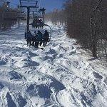 Snowbowl Express Lift Line moguls