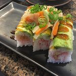 vegi roll with sweet potato and carrot