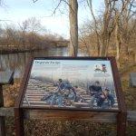 stop 5 gambrill mill trail marker