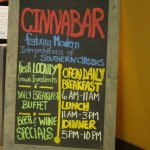 The Cinnabar provides breakfast, lunch and dinner
