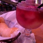 Best bread, steak and atmosphere! Bartender Mariah recommended the Sangria Margarita with sugare