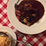This is it - Beef bourguignon and potatoes au gratin