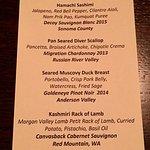 The Duckhorn Wineries wine pairing dinner menu