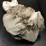 Rocks from the volcano exhibition display - scolecite