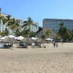View from beach to hotel
