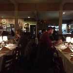 The main dining room, where live music happens Tuesday-Thursday