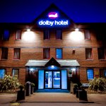 Dolby Hotel at night