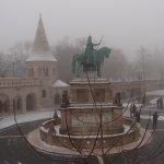 冬天的雕像