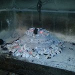 Food is prepared on natural charcoal.