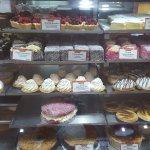 BEECHWORTH BAKERY BENDIGO a calorie laden display cabinet