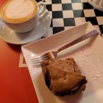 Brownie and Flat white