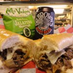 Philly Cheese Steaks on Amoroso Rolls