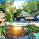 collage of campsbayglen garden pool and some rooms