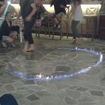 Fire dancing at Zorba's.