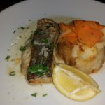 Pan fried cod in pernod sauce