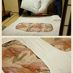 they prepare your bed after dinner, very comfortable traditional tatami
