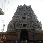 Beautifully sculptured gopuram of Uppiliappan Temple