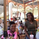 Fun on the carousel with the family.