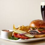 Burger paired with one of our rotating craft beers!