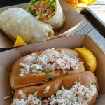 lobster rolls and oyster wrap