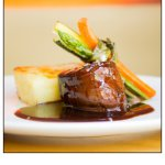 Filet pur with gratin Dauphinois and demi-glace sauce