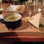Smooth Eyemouth Smoked Haddock soup with homebaked bread.