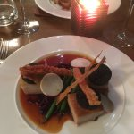 Slow cooked pork belly with black pudding