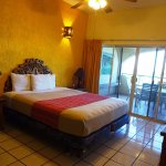 Master suite with attached bath and terrace at Las Gaviotas Resort La Paz Mexico