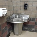 Nice clean restroom area