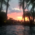 Watching the sunset every night from the hot tub or poolside is the best.