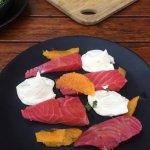 Tasmanian Salmon infused with beetroot- heavenly