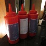 Ketchup artesanal del restaurante