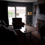 a dark picture, but you get the idea...it's a beautiful room. King suite living room