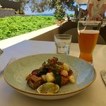 Scallops with Little Creatures ale
