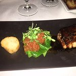 pork belly and a large scallop