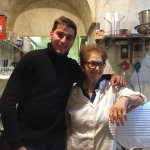 Gian Luca with his Grand Mother (cook and owner)