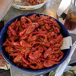 Boiled crawfish at Bayou Jack's.