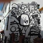 Grafiti fachada de La Posada