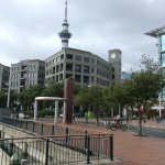 Walked to the sky tower from the hotel