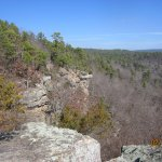February veiw of Robbers Cave State Park.