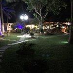 vue du jardin accès au restaurant